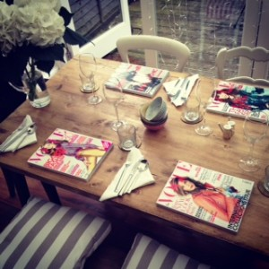 Vogue Table setting above